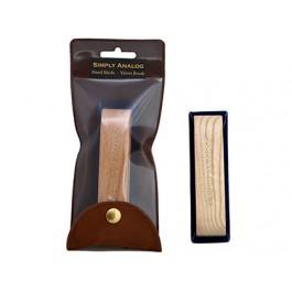 Βουρτσάκι Καθαρισμού Δίσκων Handmade Brown Oak Wooden Velvet Brush