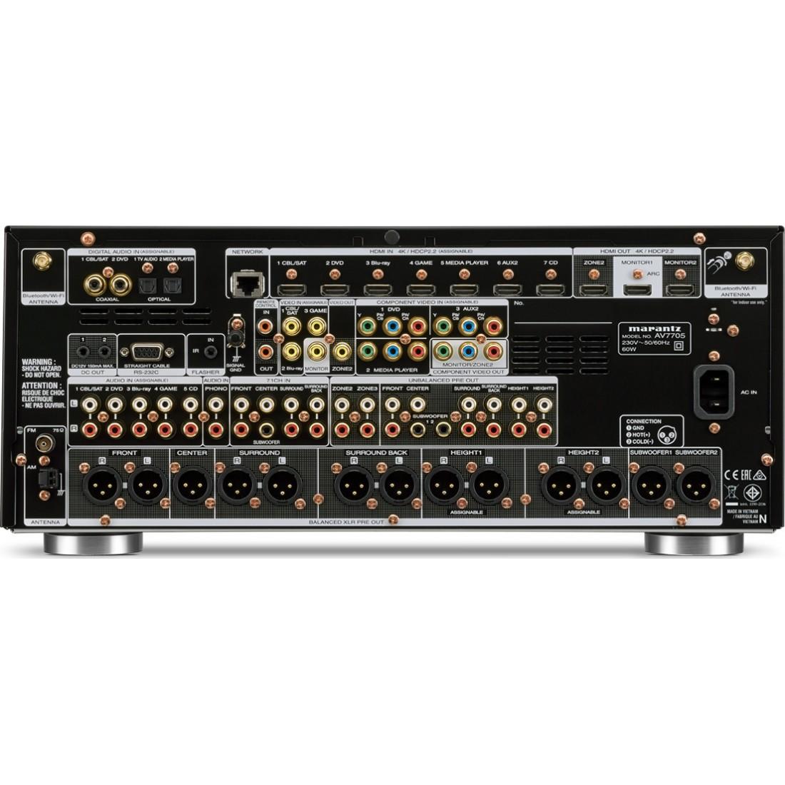 Marantz AV7705 AV Pre-Amp 11 2 Black