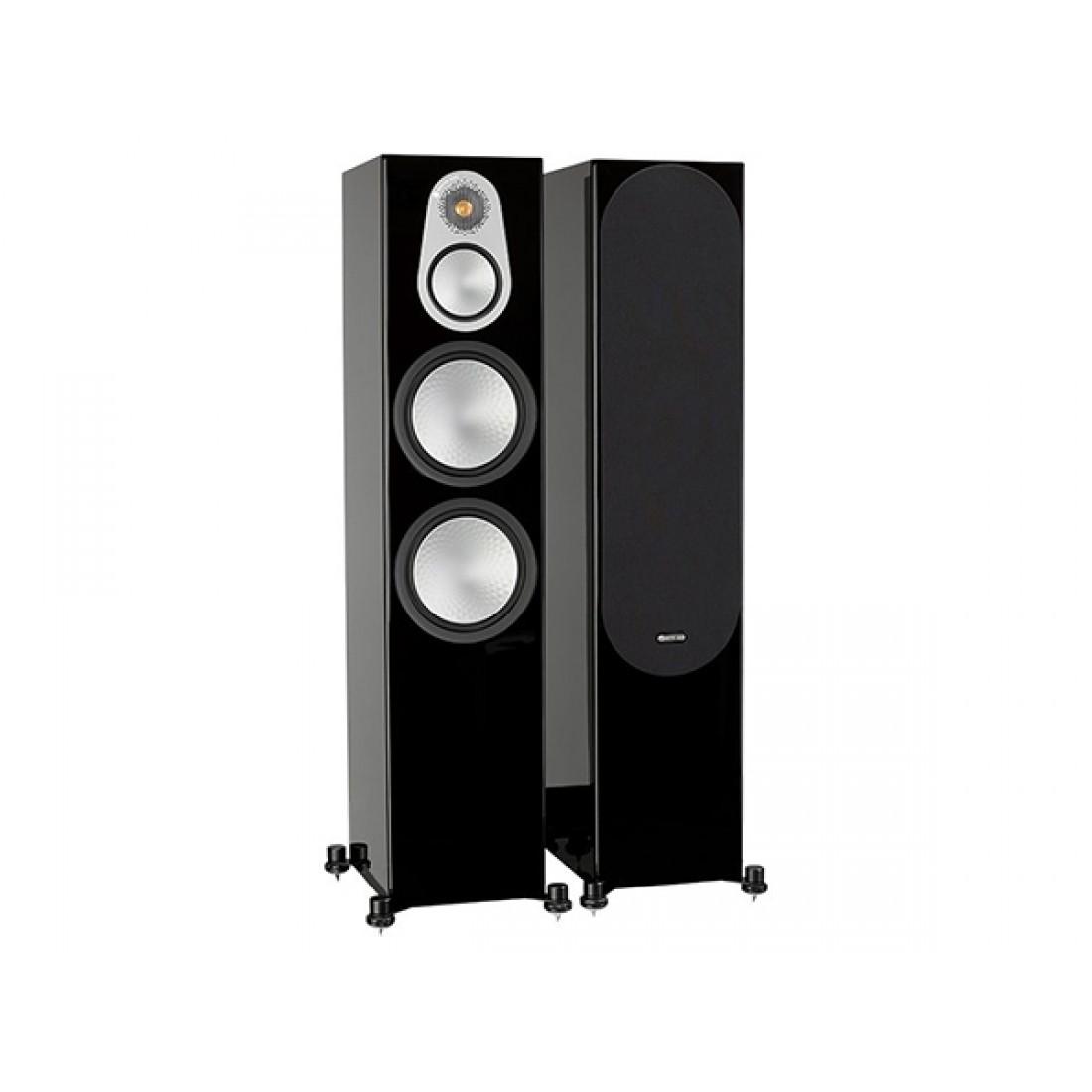 Monitor Audio Silver 500 Floorstand Speakers Gloss Black